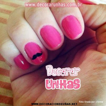 U as decoradas con esmalte rosa decoraci n de u as te - Unas decoradas con esmalte ...
